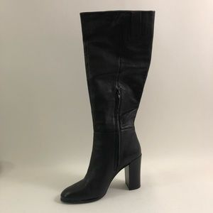 Kenneth Cole Justin Leather Toe Knee Black 10 Boot